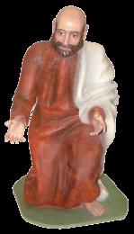 Figura belen Pastor arrodillado a tamaño real