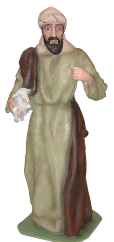 Figura de Belén monumental de Pastor con oveja