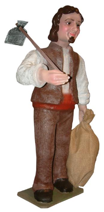 Figura de Belén Labrador con azada