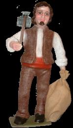 Figura de Belén Labrador con azada para belenes monumentales