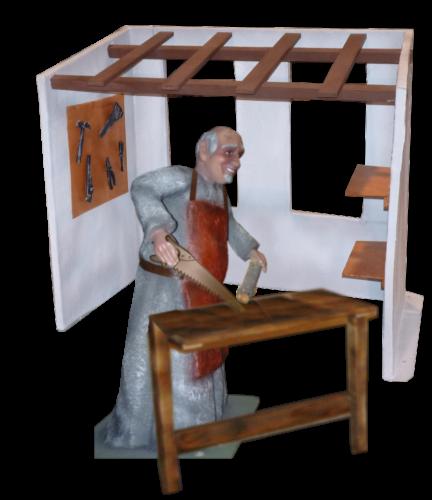 Figura de belén de carpintero