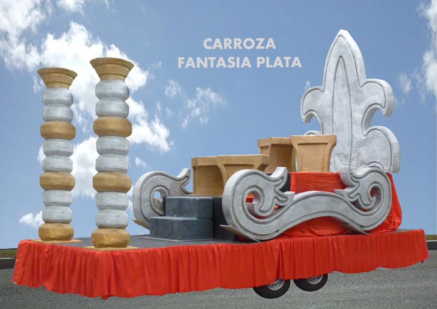 Carroza alquiler reyes magos fantasía plata