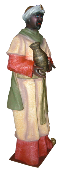 Figura de belen Rey baltasar para belenes gigantes