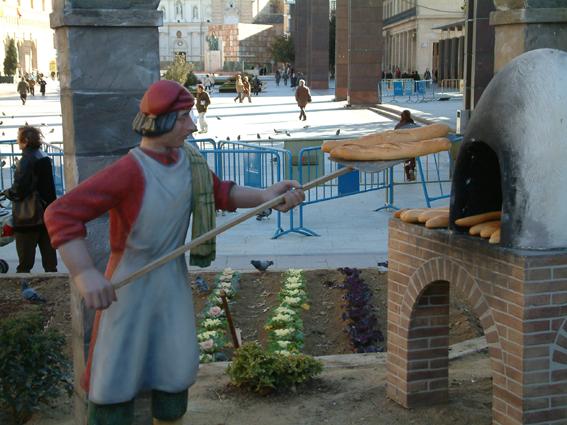 Figura de Belén Panadero para Belenes monumentales
