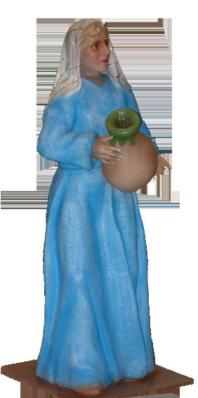 Figura de Belén Pastora con tinaja