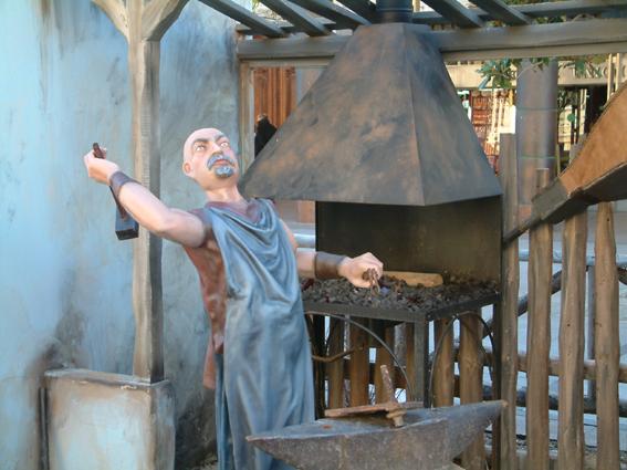 Figura belén herrero en su herrería