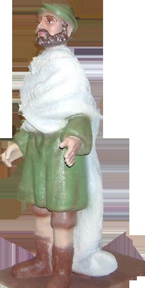 Figura de belén de Mercader