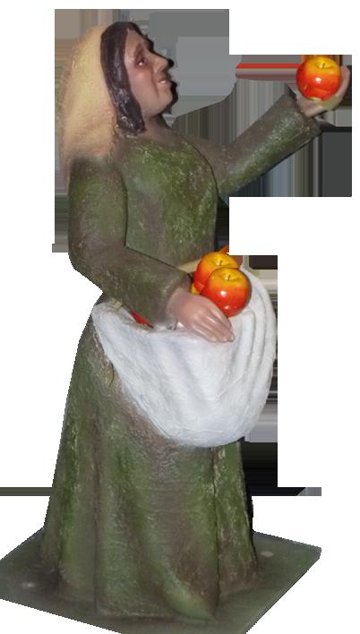 Pastora con manzanas figura de belen