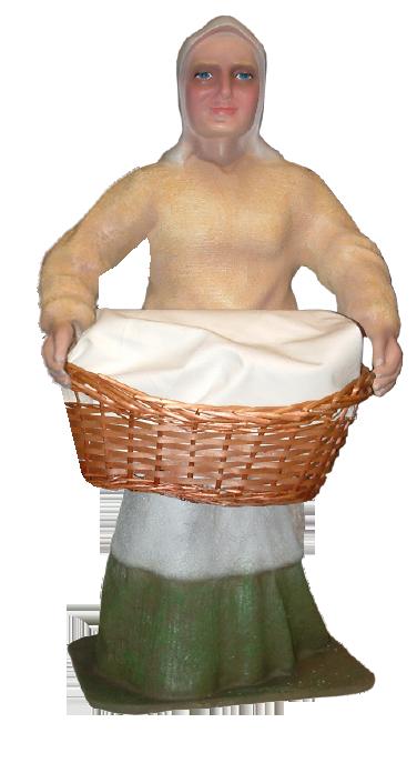 Figura de Belén Pastora con Cesto de ropa