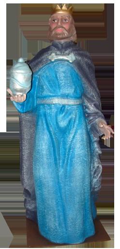 Figura de belen Rey gaspar para belenes gigantes