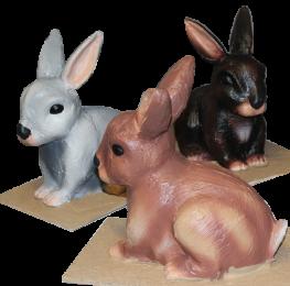 Figuras de animales para Belen Gigante Conejos