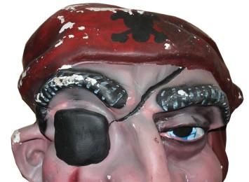 estado inicial del cabezudo Pirata de Pedrola