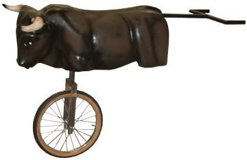 Carretilla de Novillo con rueda para encierros