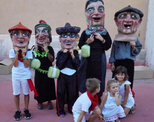 Cabezudos cadete e Infantiles de Gabarderal en Navarra