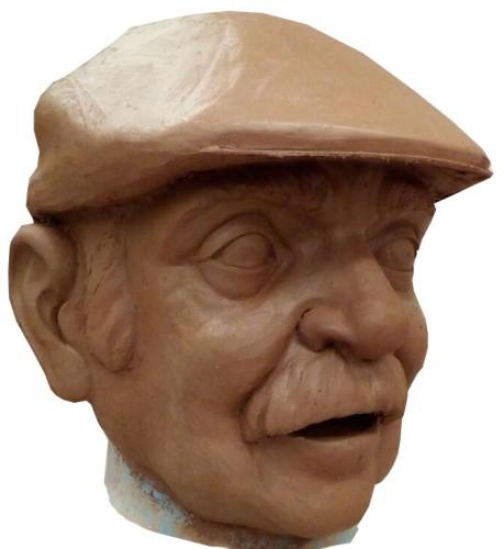 escultura cabezudo labordeta