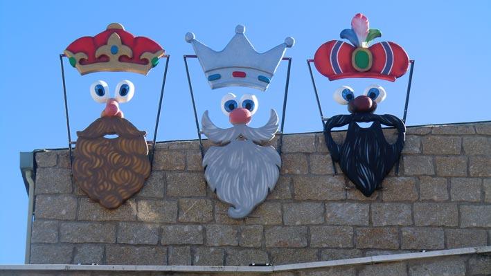 decoración Reyes Magos  para edificios