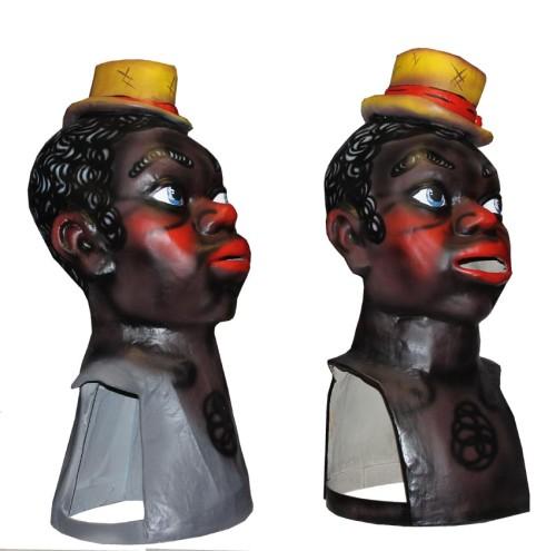 Réplica del Cabezudo original Negrito Morata de Jalón