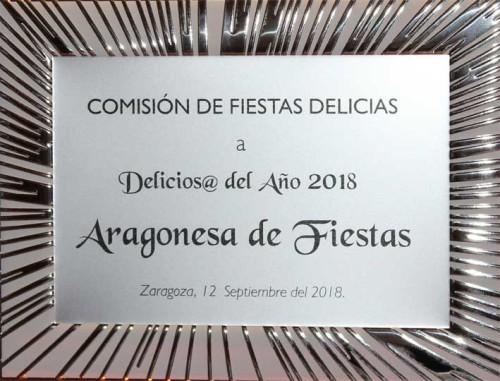 premio delicioso del año aragonesa de fiestas