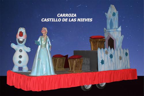Carroza Castillo de las Nieves dedicada a Frozen